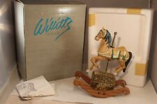 "Willitts Musical Tune Melody #6424 Rocking Horse Figurine 9"" Tall"
