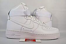 NEW Women's Nike Air Force 1 AF1 High TRIPLE WHITE 334031-105 sz 6.5