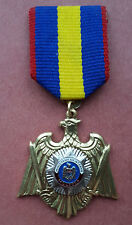 R* MOLDOVA GOLD EAGLE MEDAL POLICE MINISTERY of INTERNAL AFFAIR aUNC DETAILS
