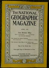 National Geographic magazine April 1949 No Map, The British Way Painting, Coke