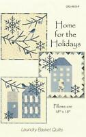 Laundry Basket Home for Holidays Pillow Quilt Pattern Edyta Sitar $0 ship