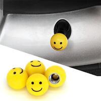 "4pcs /""SMILE FACE/"" Ball Car Truck Bike Tire air Valve Stem Caps Wheel Rims FF"