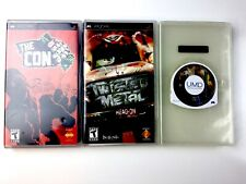 Sony PSP Games Lot Of 3 The Con, Twisted Metal, Ridge Racer EUC!