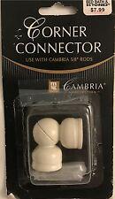 Cambria® Premier Complete Corner Connector in White