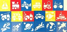 18 Stencils Templates Transport Space And Emergency Vehicles For Kids Craft Kit