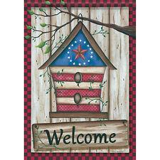 """Barn Star Birdhouse House Flag  28"""" x 40"""" Double sided Flag by Carson"""
