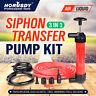 Car Tire Water Oil Fuel Change Transfer Gas Liquid Pipe Tool Air Pump Kit Siphon