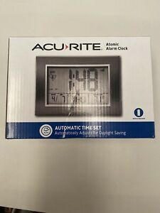 Acu-Rite Battery Operated Alarm Clock with Atomix 13131 NEW IN PACKAGE