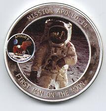Apollo Astronaut Silver Coin Moon Landing Neil Armstrong Space Exploration NASA