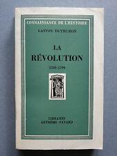 Gaston DUTHURON,  LA RÉVOLUTION 1789-1799, révolution française