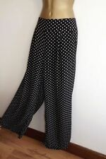 Wallis Wide Leg Viscose Regular Size Trousers for Women