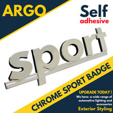 Chrome Sport Badge Silver 3d Emblem Decal Sticker Self Adhesive Lettering