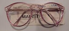 Vintage Mainstreet 150 Lt. Blue 55/23 P3 Round Keyhole Bridge Eyeglass Frame NOS
