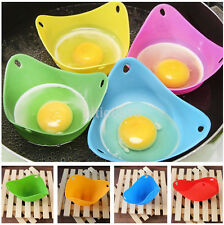 4PCS Silicone Egg Poacher Cook Poach Pods Kitchenware Baking Cup Utensil Hot AU^