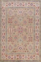 Geometric Vegetable Dye Super Kazak Oriental Area Rug Hand-knotted Carpet 8'x10'