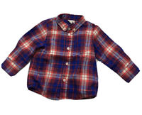 Crewcuts Baby Boy's Red Plaid Button-Up Shirt size 6-12 months Orig.$36