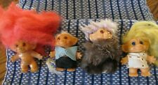 Collection of Four (4) Vintage Troll Dolls - One covered w/ Fur