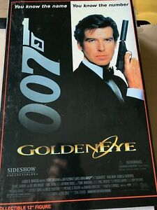 "SIDESHOW 12"" SEAN BEAN AS TREVELYAN JAMES BOND GOLDENEYE COLLECTIBLE FIGURE NEW"