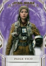 Star Wars Masterworks 2018 Paige Tico Purple 83 Parallel Card #44/50