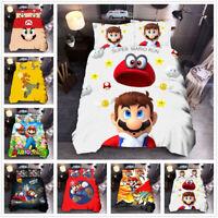 3D Super Mario Bros. Kids Duvet Cover Bedding Set Comforter Cover Pillowcase