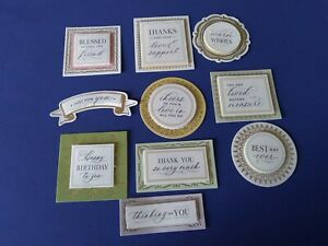 Anna Griffin Lillian Collection Sentiments Card Making Set of 10