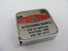 Vintage Advertising Tape Measure: Wisconsin Supply Plumbing Heating Water Works
