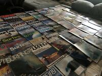 Lot of 100-pieces SURFING Magazines SURF 1975-2008 Surfer