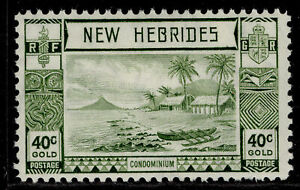 NEW HEBRIDES GVI SG58, 40c grey-olive, M MINT.