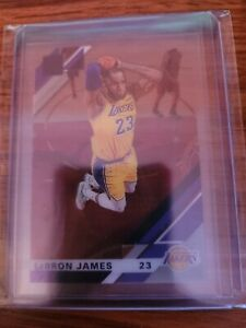 2020 Panini Clearly Donruss LeBron James Purple Foil Parallel #20 Lakers