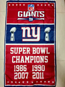 New York Giants Super Bowl Champions Flag 3x5 FT Football NFL Banner Polyester