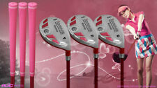 "Women's iDrive Golf Clubs All Ladies Pink Hybrid (4-6) Set Lady ""L"" Flex Clubs"
