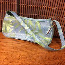Guess Ladies Evening Bag Blue Green Iridescent Fabric Handbag H6