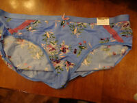 CACIQUE BLUE FLORAL EXTRA SOFT HIPSTER PANTIES SIZE 22/24 NEW