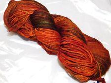 VOLCAN Fiery Oranges+Greens Skein 210yd Malabrigo RIOS Soft SW MERINO Wool YARN