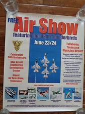 USAF THUNDERBIRDS AIR SHOW ARNOLD AF BASE TN 50TH ANNIVERSARY 2001 POSTER