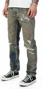 MADE ITALY MEN Diesel LARKEE-BEXX SP RIPPED Denim 084XB REGULAR W38-36-32-31 L34