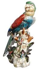 Perroquet en porcelaine peinte