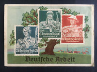 1936 Dresden Germany Olympics Postcard Cover Labor Stamps to Czechoslovakia