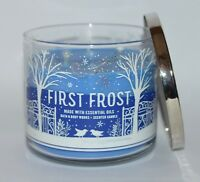 BATH & BODY WORKS FIRST FROST SCENTED CANDLE 3 WICK LARGE 14.5OZ BLUE PATCHOULI