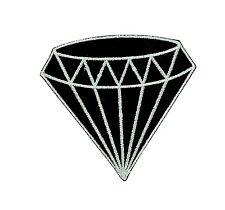 Patch backpack black diamond gem gemstone iron on glue carat retro jewelry