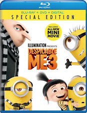 Despicable Me 3 Special Edition (Blu-ray, DVD, Digital HD) No Slip Brand New