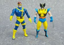 vintage toys - rare - 2 XMEN CARTOON METAL FIGURES wolverine / cyclops £0.99