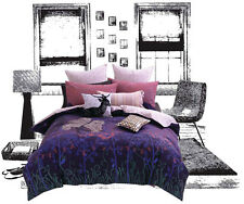 Double Quilt Cover Set and EUROS Long Cushion Cover Winterpark Owl girls bedding