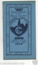 WORCESTER MA 1920 Convention Massachusetts Christian Endeavor Union w Photos