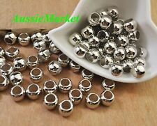 50 x beads acrylic plastic silver 10mm large big hole macrame mobile jewellery