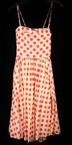 Atmosphere 1950s Pink Polkadot Dress Sz 10