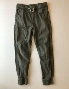 Olive Green H & M Boys or Girls Pants Size 9–10, Fitted Ankles, Drawstring Waist