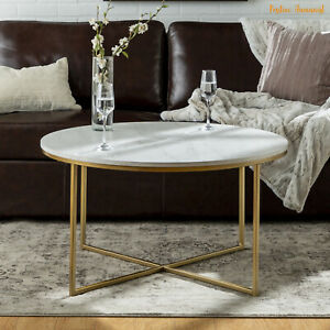 Round Coffee Table Marble and Gold
