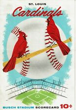 1957 Chicago Cubs at St. Louis Cardinals BUSCH STADIUM Scorecard Program