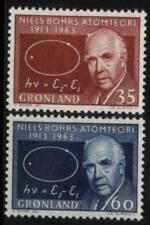 Greenland 1963 Mi 62-63 ** Niels Bohr Nobel Slania Słania